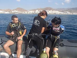 !Getting ready to dive!