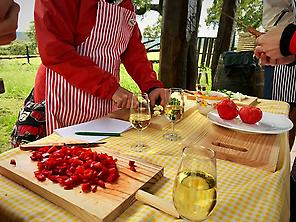 Workshop Cooking with wine pairing Spani