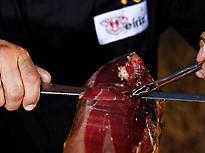 Curving Iberico Acorn Ham