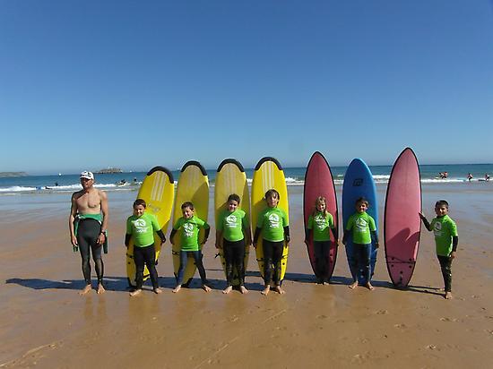 Surfing in Somo beach