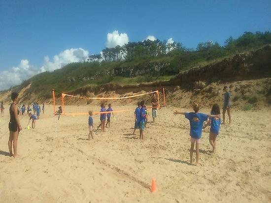 beach volleyball and football, fun rides
