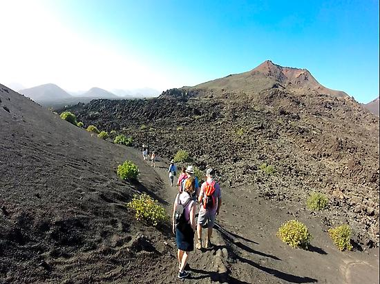 Walking between lava flows