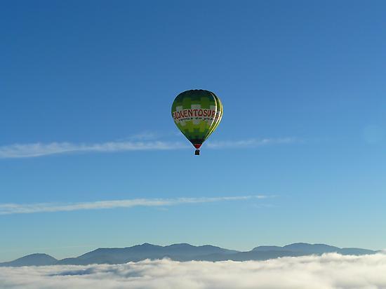 Balloon flight, Andalusia