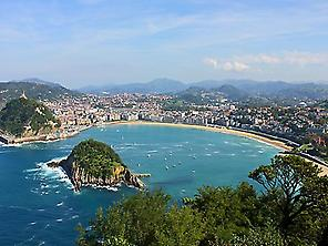 Panoramic views of San Sebastian