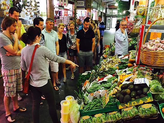 Visita al mercado antes de la Clase