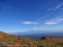 Zona suroeste de La Gomera con Teide.