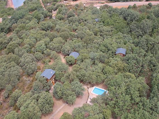 Vista aérea del ecolodge.