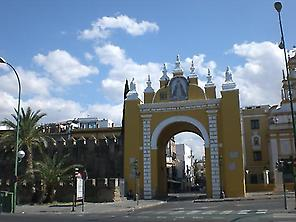 The wall,arch and basilic of La Macarena