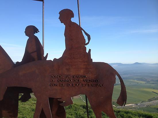 Alto del perdon near Pamplona