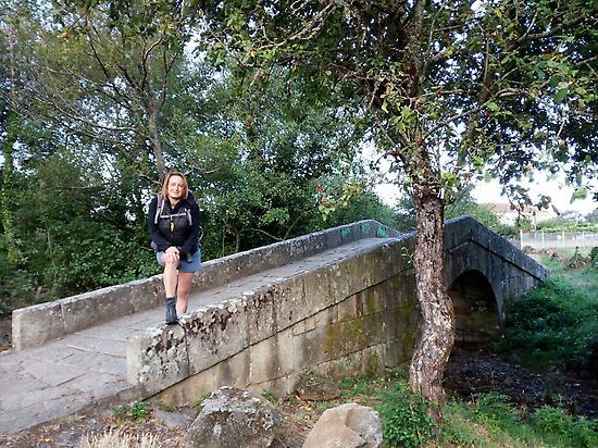 Roman bridge out of Sarria