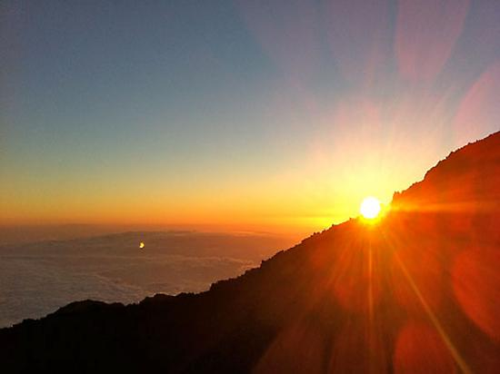 Sunset from viewpoint of Pico Viejo.