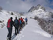 Snowshoeing Pico Astún
