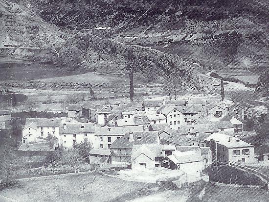 Jánovas village in 1960