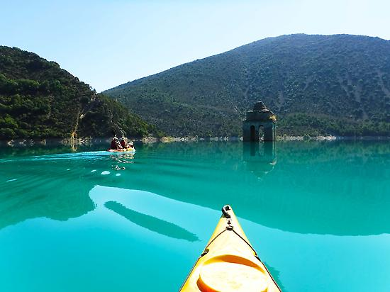 Canoes in the Pyrenees