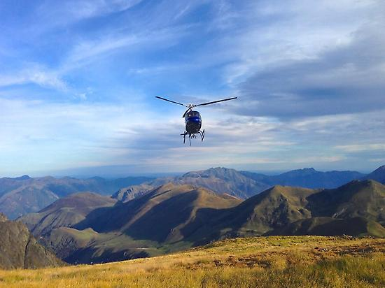 Helicopter & Pyrenees