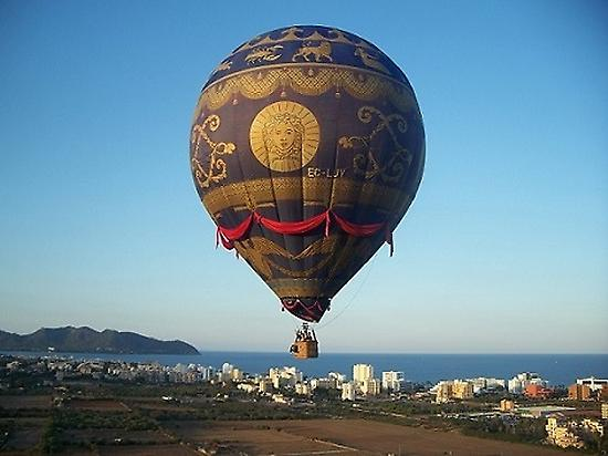 coast Mallorca and beautiful balloon