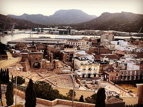 Roman theater views Cartagena (Spain)