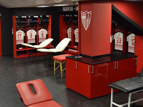 Sevilla FC Changing Room.