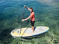 paddle boarding in Menorca