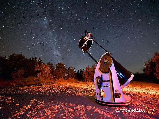 Stargazing session with telescopes.