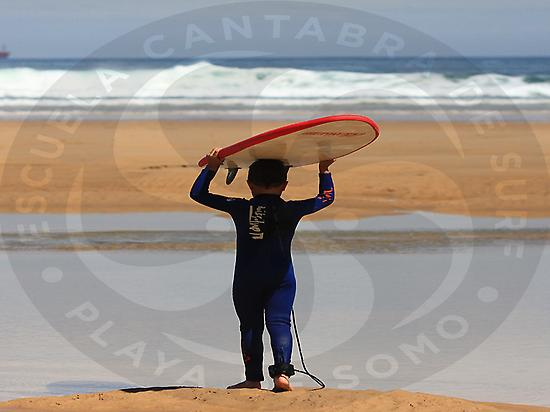 Cantabria Surf School. Somo beach