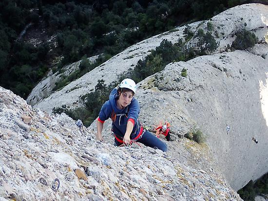 Escalando en Montserrat