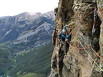 Climbing in Ordesa