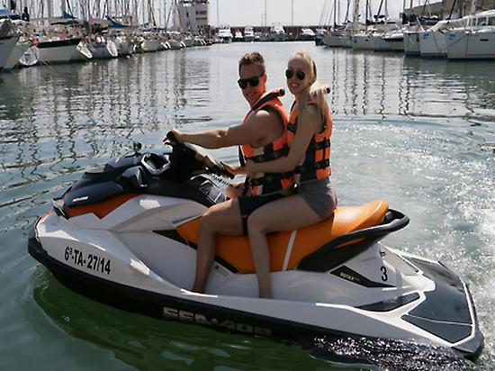Jet Skiing in the Port Olímpic