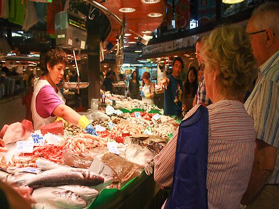 Boqueria Market + Paella Cooking Worksho