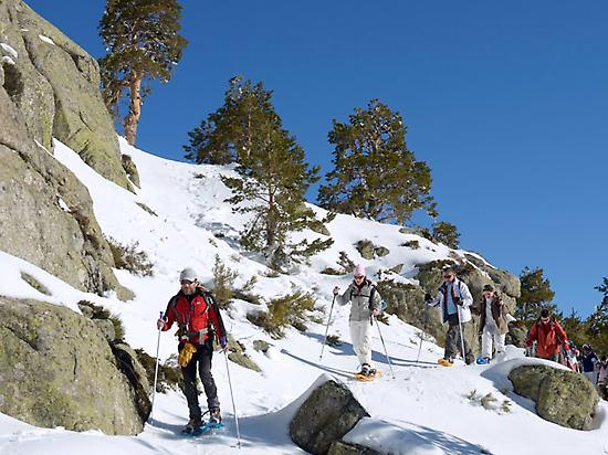 Snowshoe Hikes in Madrid mountains.