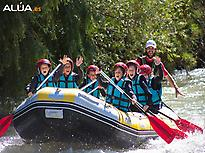 Rafting for children in Genil river.