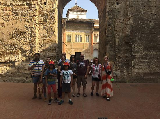 Visitors at the Real Alcázar