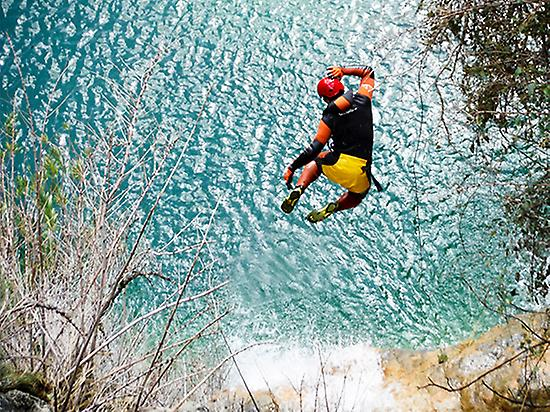 Jumping into clear-crystal pools
