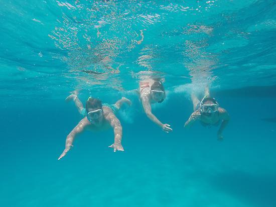Nadando en Formentera