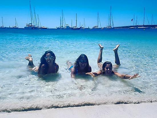 En la playa de Espalmador en Formentera