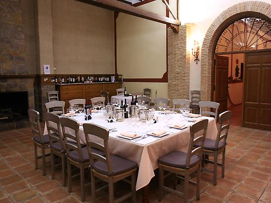 Bodegas Castaño´s private dinning room