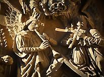 Gothic angel musicians