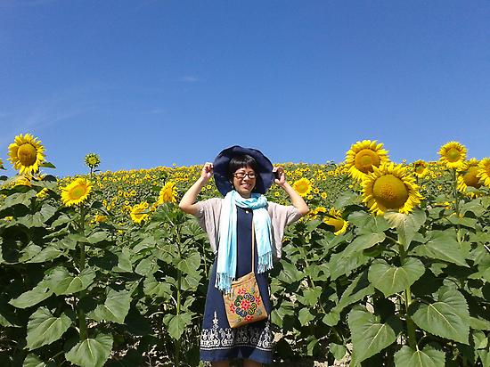 Blue sky and sunflowers... happiness!
