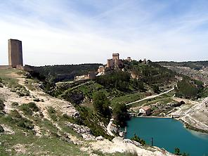View of the medieval village of Alarcón