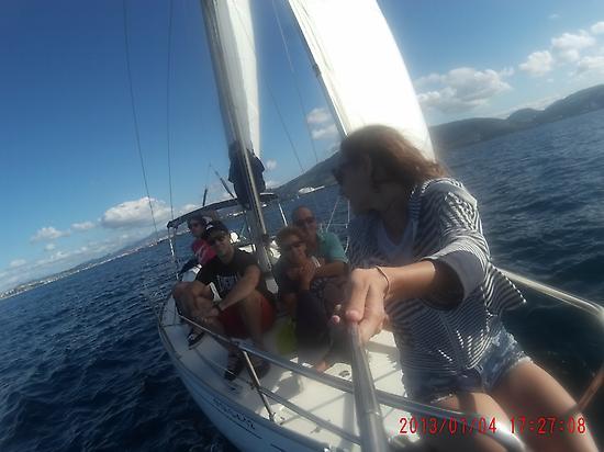 Sailing through Bilbao Coast.