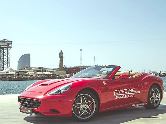 Barceloneta and  Beach. Ferrari