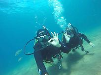 Diving baptism in Lanzarote