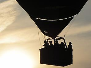 Balloon flight with views over M...