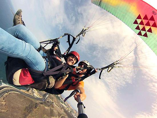 Two-seat paragliding in Gran Canaria