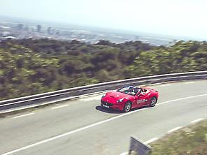 Driving a Ferrari -Barcelona to Montjuic