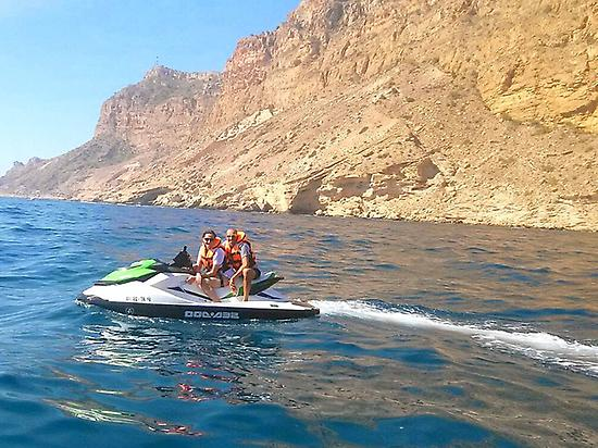 Water motorbike half hour from Alicante