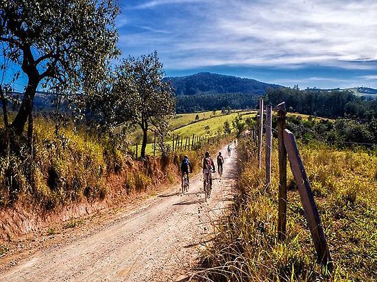 Cyclists on the Way of Saint James