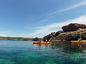 Kayaking excursion in Es Grau