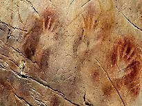 Hands paintings in El Castillo Cave