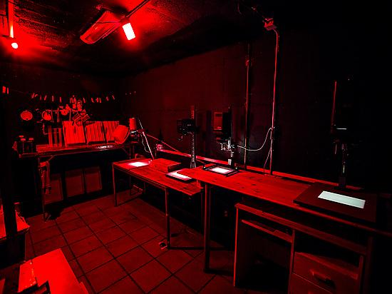 Dark room for the development of our pic